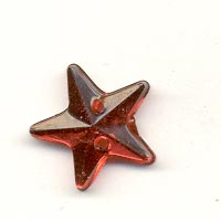 Sew-on acrylic stones : Stars - Light Siam