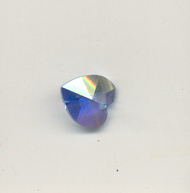 Swarovski 6202 Heart, 10mm, Aqua AB