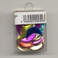 Sequins, Moons, mixed colours - 20mm