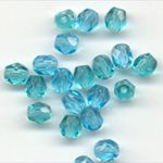 4mm faceted glass beads