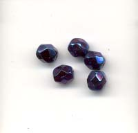 Faceted glass beads - 6mm - Lopho Blue