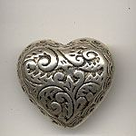 20x18mm heart antique silver