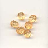 Faceted glass beads - 6mm - Apricot