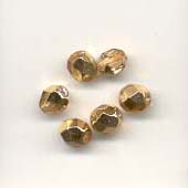 Faceted glass beads - 6mm - Gold