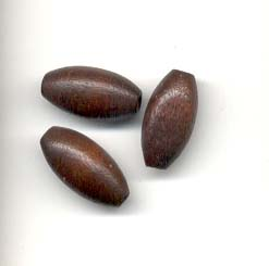 8x16mm Oval  Wooden bead - Brown