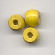 8x10mm Barrel  Wooden bead - Yellow