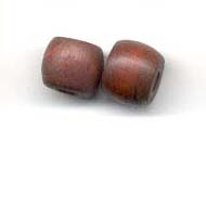 8x10mm Barrel  Wooden bead - Brown