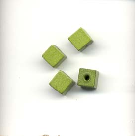 Square wooden beads - 6mm