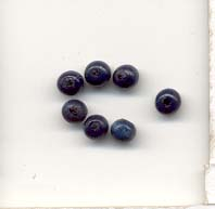 Wooden Beads, 5mm, Sea Blue