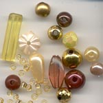 Beads in gold/brown shades