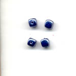 Glass pearls - 5mm square - Blue