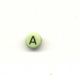 Alphabet beads - Letter A