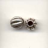10mm metallised plastic melon - Silver