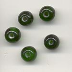 7mm round transparent  glass lamp beads - Emerald