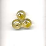 10mm decorated glass lamp beads - Yellow
