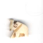 Small carved bone elephant
