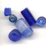 Assorted Glass Beads - Cobalt blue