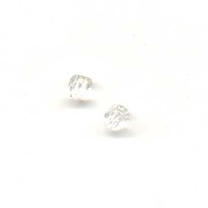 Faceted glass beads - 3mm -Crystal