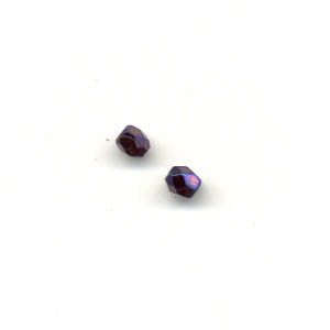 Faceted glass beads - 3mm -Lopho blue