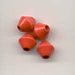Perles Bois Fantaisies - 8mm - Rouge