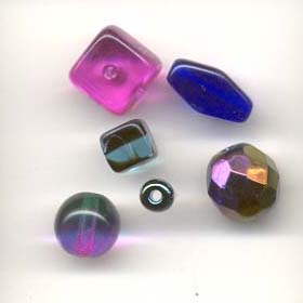 Color coordinated glass beads - Purple passion