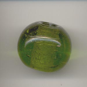 Large spherical glass bead - Olive