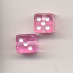 9mm coloured dice - pink