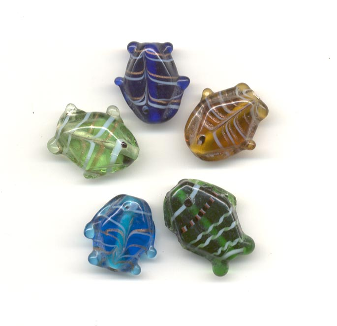 Indian glass bead mix - Fish