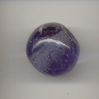 Large spherical glass bead - Tanzanite