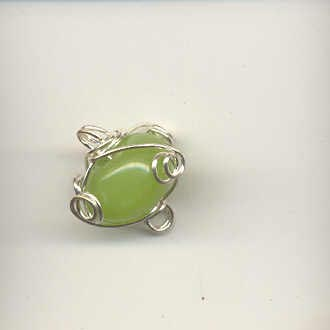 Indian wire wrapped beads - 8mm round - lime green