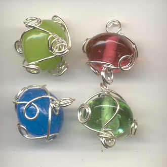 Indian wire wrapped round beads