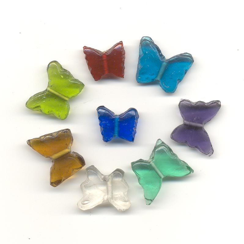 Indian glass bead mix - Butterflies