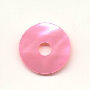 20mm pearl shell donut - pink