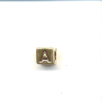Gold alphabet beads - Letter A