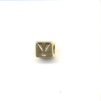 Gold alphabet beads - Letter Y