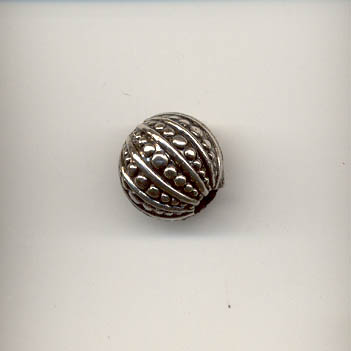 Antique Silver Round Bead