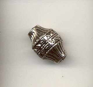 Antique Silver Barrel Bead