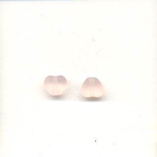 6mm glass hearts - AB Pink, light
