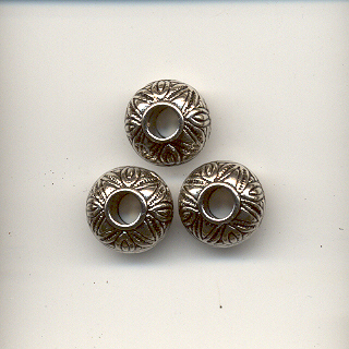 Antique Silver 10mm X 8mm  Bead