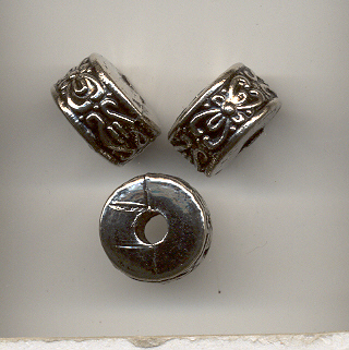 Antique Silver 12 X 8mm Barrel Bead