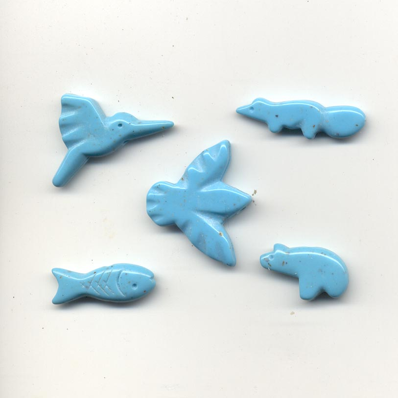 Animals - mix - imitation turquoise