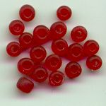 Frosted pony beads - 4mm