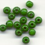 Wooden Beads, 5mm, Green