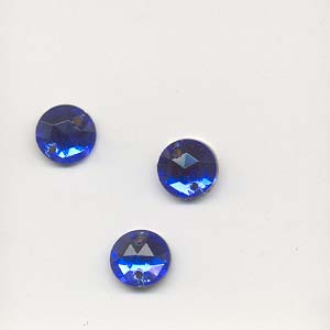 Glass embroidery stone-7mm - Sapphire