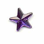 Sew-on acrylic stones : Stars - Tanzanite