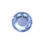 Stick-On Acrylic stones - 7mm rnd, light sapphire