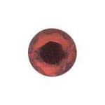 Stick-On Acrylic stones - 7mm round, siam