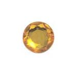 Stick-On Acrylic stones - 7mm round, topaz