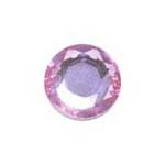 Stick-On Acrylic stones - 7mm round, lt rose