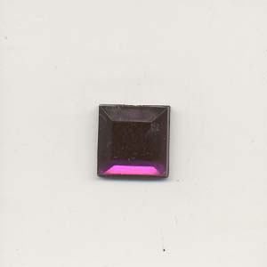 Stick-On Acrylic stones - 10mm square, amethyst
